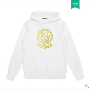Mens 2020 Designer-T-Shirts Hoodies Mens Designer Pullover Beiläufiges Beliebte Sweatshirts Mode Mens Solid Color Langarm VERSACE