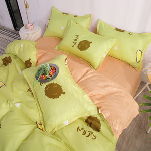 Bedding Set di lusso di animali Fox 4pcs Family Set include lenzuolo copripiumino federa Boy Decorazione Camera Copriletto