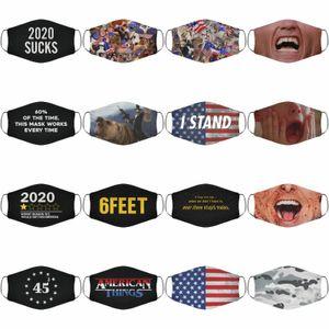 2020 Yeni Özel tarzı Amerikan Scream İkinci Americats Bayrak Güç Arrrrghhgg - Yüz Kapak Bisiklet Caps Maskeler DHL 100pcs / lot