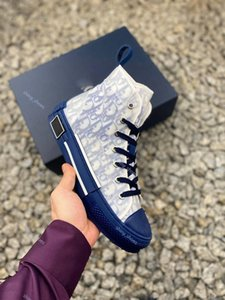 xshfbcl High-Top Casual Shoes luxe Sneaker Flowers Embroidery Technical Canvas B23 Oblique Trainers Womens Mens Dress Sneakers Chaussure