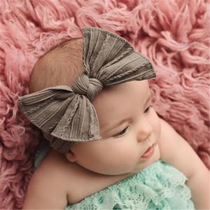 Einfarbig Elastic Bowknotstirnband twistedwire Kaninchenohren Haarbänder Baby Kinder Haarband wird und Sand Mode Geschenk
