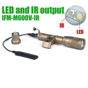 Tactical SF IFM M600V IR Hunting LED e saída IR luz branca 400 lumens lanterna