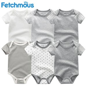 Mamelucos del bebé de manga corta ropa de las muchachas 2020 kiddiezoom verano del desgaste del bebé trajes de la ropa, productos bebés