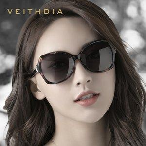 VEITHDIA 2019 Moda Fox Elmas Kadınlar Lüks Büyük Boy Güneş Şık oculos de sol Bayan Güneş UV400 için gölgeler gözlük
