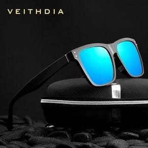VEITHDIA Brand Unisex Retro TR90 Square Sunglasses Photochromic Mirror Polarized Vintage Eyewear Sun Glasses For Men Women 7018 CX200707