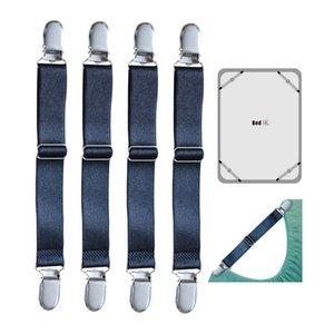 4pcs set Adjustable Bed Sheet Clips Cover Grippers Holder Mattress Duvet Blanket Fastener Straps Fixing Slip-Resistant Belt