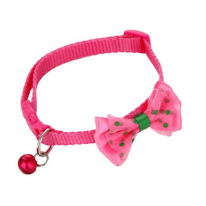 Pet Dog Cat Collar Fashion Pets Necktie Collars Bells and Charms Adjustable Dot Prints Doggy Bow Tie With Bells pet supplies