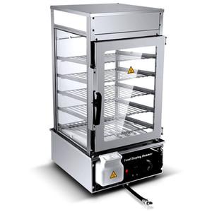 WinYe Stainless Steel Bun Steamer Machine 5 Layer Food Display Heat Preservation Cabinet