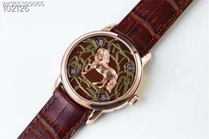 In 2020, men's Horse type mechanical watch 2460 movement size 42mmx13mm designer watch luxury high quality watch