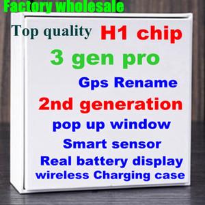 블루투스 헤드폰 유효한 일련 번호 공기 H1 칩을 충전 최신 2 세대 무선 이름 변경 헤드셋 AP2 TWS 이어폰 GPS 위치