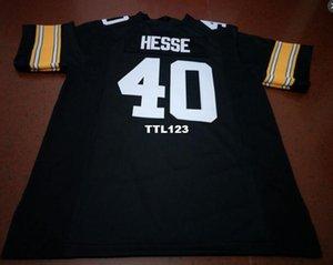 Men # 40 Parker Hessen Iowa Hawkeyes Alumni Hochschule Jersey S-4XLor Gewohnheit jeder Name oder Nummer Jersey