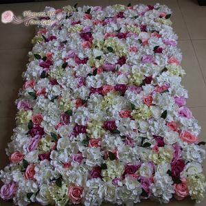 꽃 배경 결혼식 장식을위한 모든 것을 걸프 인공 꽃 벽 수국 EMS 10 개를 출하 증가 및 / 많은