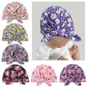 Children's Tu pullover tying baby printed rabbit ear cap India hat 2-in -1 multi-function baby pullover cap