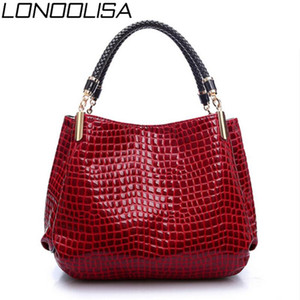 LONOOLISA Аллигатор кожи сумки женщин Топ-ручка сумка для женщин 2020 Мода сумки черного Болс Feminina Sac A Главной