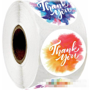 New Multicolor Thank You Stickers Diary Scrapbook Book Label Stationery Sticker Diy Thanksgiving Gift Case Personality HotSale 4sh D2