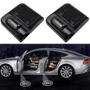 2pcs Shadow Lamp Projector Light Car Led Wireless Door Logo Light Welcome Decor Lamp Laser Atmosphere Car Light Car Accessories