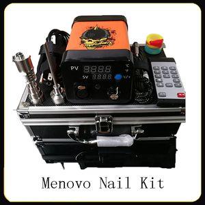 Menovo elétrica Titainium Dab Nails Pen Rig Oil Wax tateamento PID TC Box Com Domeless Bobina Heaer Dnail Kit Silicone Pad