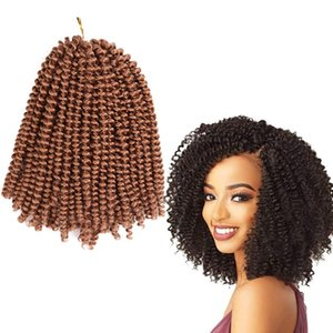 Crochet Braids Hair Extensions Synthetic Braiding Hair Ombre Spring Curly Weave Twist Synthetic Twists Hair Wholesales