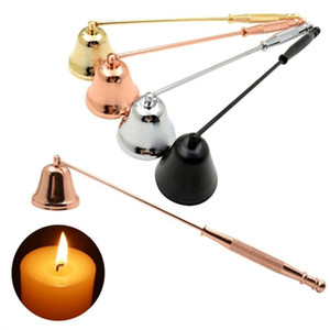 Bell Shaped Candle Snuffer Stainless Steel Candles Wick Trimmer Oil Lamp Cover Wedding Candle Fire Extinguisher