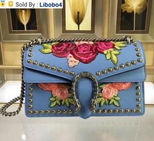 libobo4 2019 400249 Top BLUE REAL LEATHER WOMAN BAG HANDBAG Hobo HANDBAGS TOP HANDLES BOSTON CROSS BODY MESSENGER SHOULDER BAGS