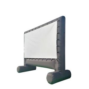قائمة بذاتها في الهواء الطلق إسقاط الهواء الشاشة بالون نموذج قابل للنفخ شاشة السينما المنتج المسرح مع شاشة قابلة للإزالة