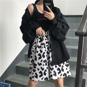 HOUZHOU estate Mucca stampano i pantaloni donne di stile coreano Plus Size Pantaloni Donne Oversize Harajuku Pantaloni per Streetwear Moda