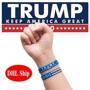 6 Styles Donald Trump Silicone Bracelets Trump Keep America Great 2020 Presidential Election Donald Trump Supporters Wristband FY6063