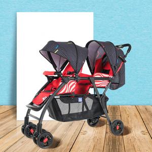 2020 New Twin Kinderwagen sitzen kann auf Liegender Vierrädrige Wagen Leichte Kinderwagen-Baby-Auto-Twin Double Stroller