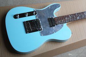 Sky Blue Left-Hand-E-Gitarre mit Spiegel Schlagbrett, Palisander Griffbrett mit Tree of Life Inlay und bietet maßgeschneiderte Dienstleistungen