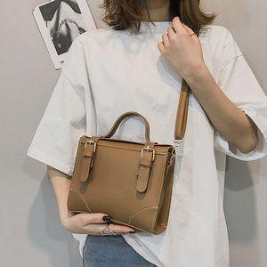 Petite place Besace Femmes Polyvalent Simple Womens grande capacité CrossbodyBag en cuir Loisirs Messenger Bag Bolsa Femme pSXn #