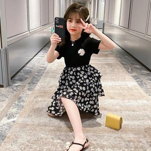 medio cintura apretada 6tI33 Girls' de Daisy niños del verano 2020 de las niñas y un gran vestido de la princesa Li Tong Fu Li Tong Fu de los niños de manga corta