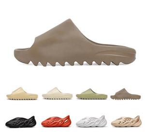 2020 barato Bone Tierra para hombre de 450 zapatillas de espuma corredor Kanye West Desert Sand Beach Resina mujeres hombres Diapositivas zapatilla sandalia sandalias 36-45