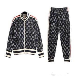 Gucci Clothes suit homens e mulheres jaqueta sportswear terno de beisebol da forma dos homens de esportes novo casal zipper calças terno senhoras esportivos de luxo calças S-2XL
