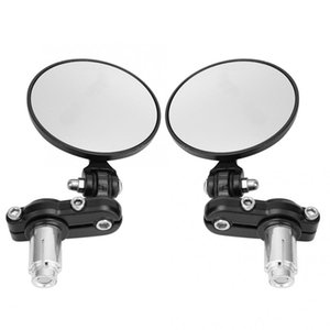 2Pcs Universal Retro Aluminum Alloy Electrombile Handle Bar End Round Rear View Mirrors Rearview Bicycle For Bicycle Accessories
