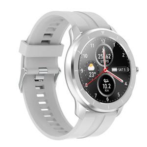 Nueva T6 completa inteligente de pantalla táctil reloj mujeres de los hombres de encargo del monitor de ritmo Mensaje recordatorio forma Deportes rastreador de ejercicios PK V8 Fitbit