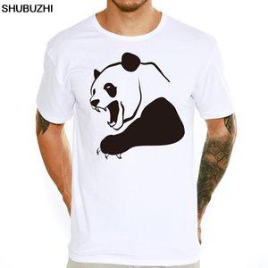 Хорошее качество для мужчин Злой Panda Повседневный T-Shirt Мужчины мальчиков с коротким рукавом животных Printed Прохладный O-образным вырезом Новизна Soft Топы футболочку