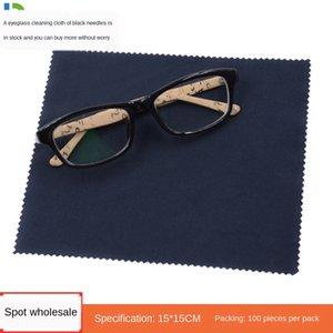 l'écran de l'écran du téléphone mobile de nettoyage noir de fibres ultra-fines lunettes bijoux tissu aiguille verres essuyage chiffon