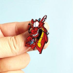 Cartoon Movie Mulan Mushu dragon en métal émail Pins et Broches épinglette Sacs à dos Hat Badge Cadeaux 30