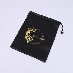 Black Bread satin wig Black Bread storage satin bag wig storage bag