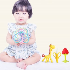 Baby deer tooth gum molar stick baby Manhattan hand grab ball bite gum toy silicone can be boiled for 6 months