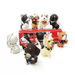 Baby toys vinyl cats and dogs dolls Husky scarf Shiba Inu bag pendant animal doll children kindergarten gifts