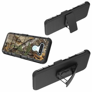 With Belt Clip Camouflage Shockproof Case For Samsung A21 A11 A01 LG K51 K31 Moto Edge Plus Rugged Hybrid Hard PC+TPU Armor Holster Cover