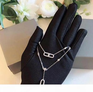 Women's Necklace Designer MOVE Jewelry S925 Sterling Silver Removable Pendant Necklace Fashion Temperament Double Silver Necklace