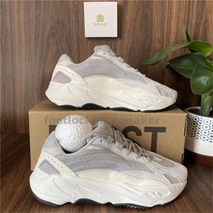 Kanye West de los zapatos corrientes 700 corredor de la onda Hombres Mujeres Sport zapatillas de deporte estático inercia reflectante Tefra imán Utilidad Negro Vanta Racer