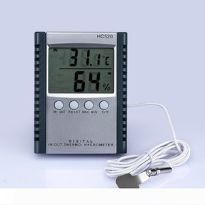 Digital Thermometer Hygrometer Temperature & Humidity Meter for indoor & outdoor LCD display HC520 in retail package 50pcs lot
