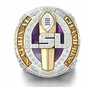 LSU 우승 반지 2,019 2,020 Geaux 호랑이 국립 Orgeron 대학 축구 플레이 오프 SEC 팀 챔피언스 팬 남성 선물 도매 보석