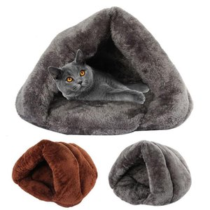 Winter Warm for Dog Cat Soft Fleece Small Dogs Puppy Kennel Bed Sleeping Bag Mats Pet House Products Willstar T200618