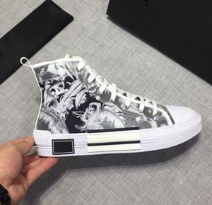 Superstars chaussures obliques de haute qualité Fleurs technique toile B23 High Top chaussures pour hommes de luxe de femmes de la mode casual chaussures 36-45 eur