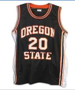 las mujeres de Hombres jóvenes Vintage # 20 Gary Payton Oregon State Beavers Jersey Tamaño Baloncesto S-5XL o costumbre cualquier nombre o el número del jersey