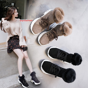 botas mujer 2019 Winter Real Leather Shoes Women Snow Boots 004Brand Ladies Warm footware Wool and Fur Boots bota feminina Black